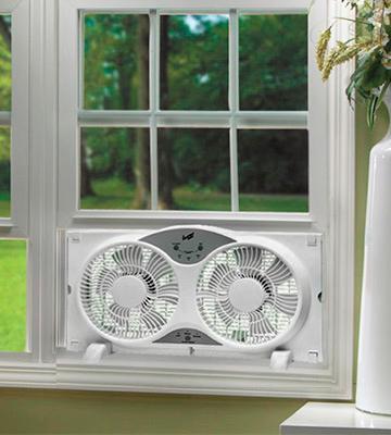 Bionaire twin window fan installation